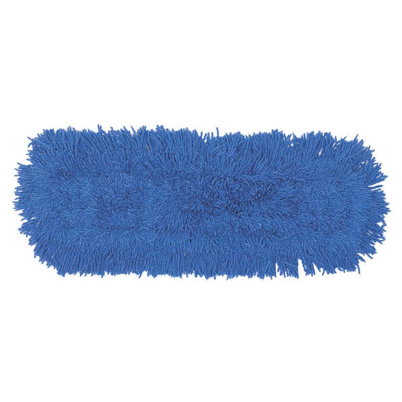 "Rubbermaid FGJ35300BL00 24"" Dust Mop Head Only w/ Twisted Loop Ends, Blue"