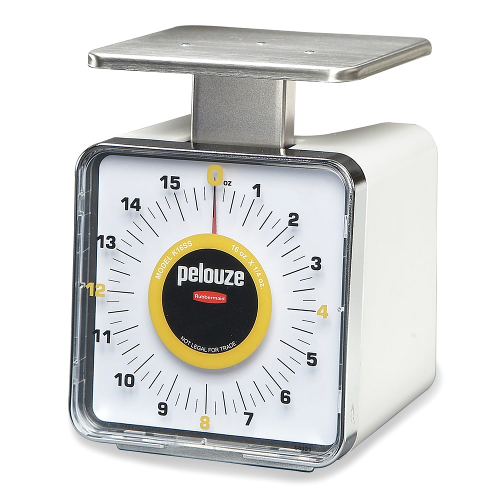 Rubbermaid FGK16SS Pelouze Specialty Compact Scale - Dial Type, 16-oz x 1/4-oz, Stainless/Plastic