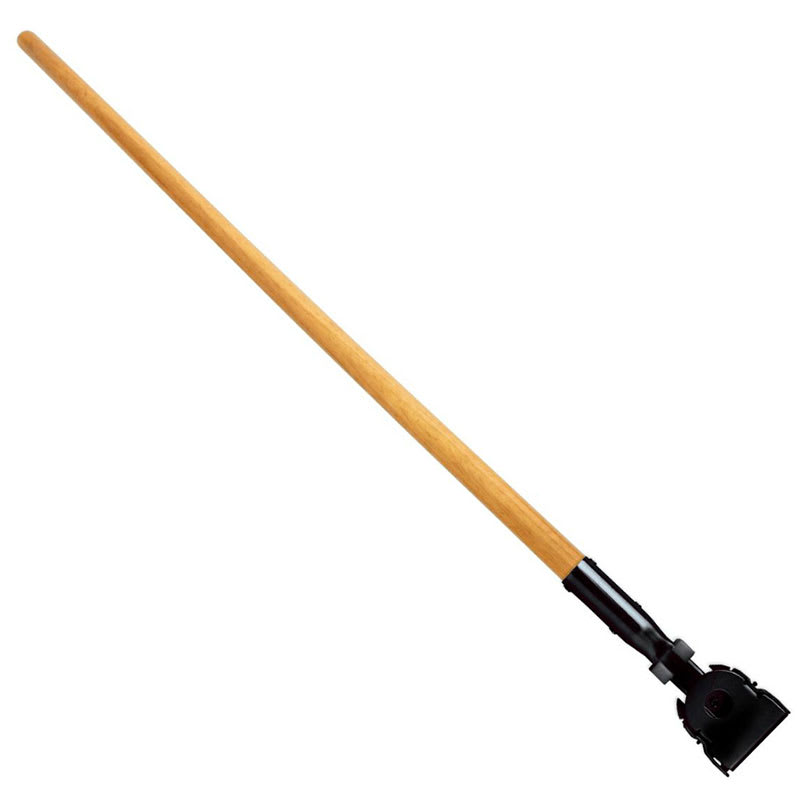 "Rubbermaid FGM136000000 60"" Snap-On Dust Mop Handle for Wire Frames, Vinyl Over Wood"