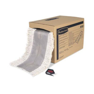 """Rubbermaid FGM15000WH00 Select-a-Length™ Dust Mop Roll - 40' x 5"""", Cut Ends, White"""