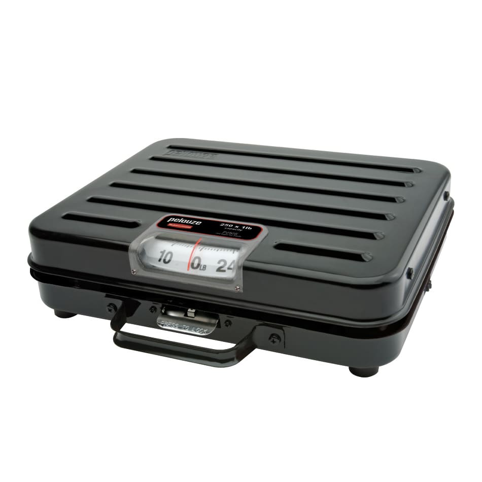 Rubbermaid FGP250S Pelouze Receiving Scale - Dial Type, Low Profile, 250 lb x 1 lb, Enamel
