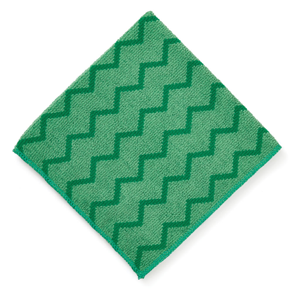 "Rubbermaid FGQ62006GR00 16"" Square Hygen General Purpose Cloth - (6) Pack, Microfiber, Green"