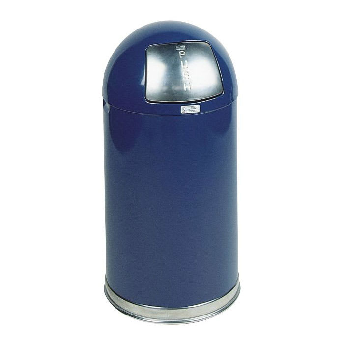 Rubbermaid FGR1530EGLCOB 12-gal Indoor Decorative Trash Can - Metal, Cobalt Blue