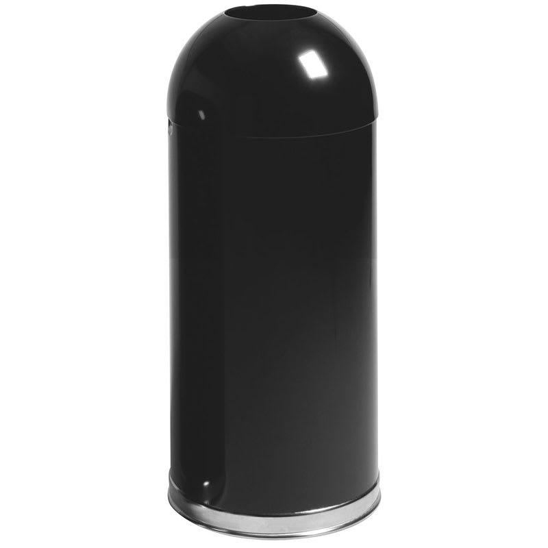 Rubbermaid FGR1536EOTGLBK 15-gal Indoor Decorative Trash Can - Metal, Black