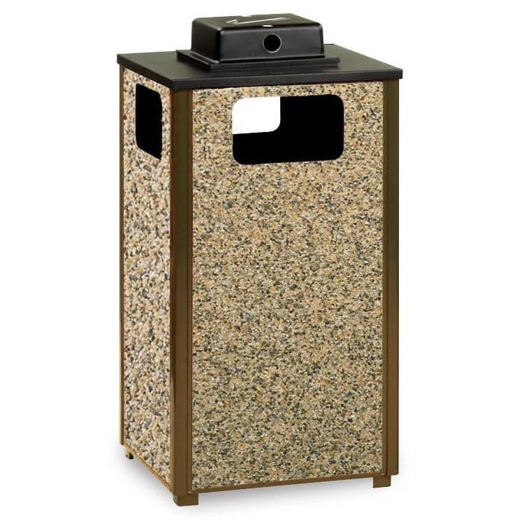 Rubbermaid FGR18WU201PL Trash Can Top Cigarette Receptacle - Outdoor Rated
