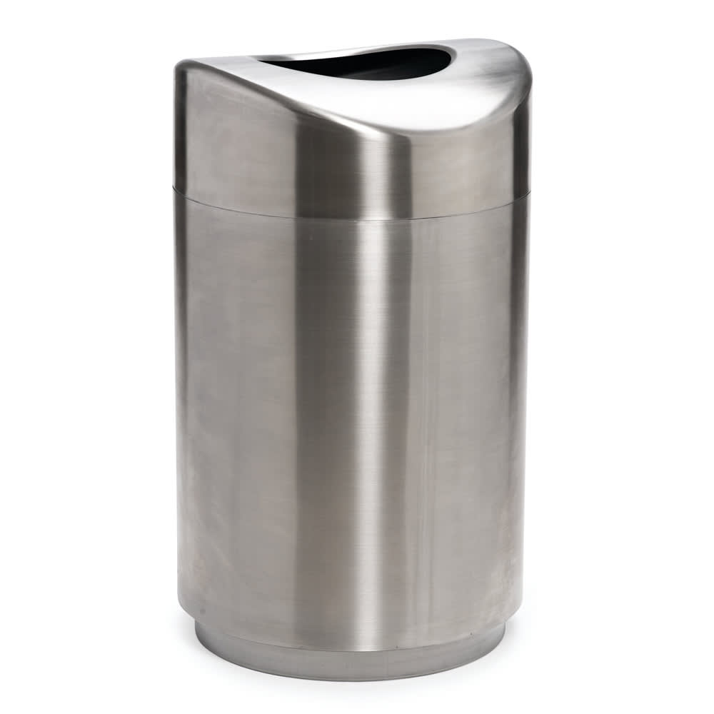 Rubbermaid FGR2030SSPL 30 gal Indoor Decorative Trash Can - Metal, Stainless Steel