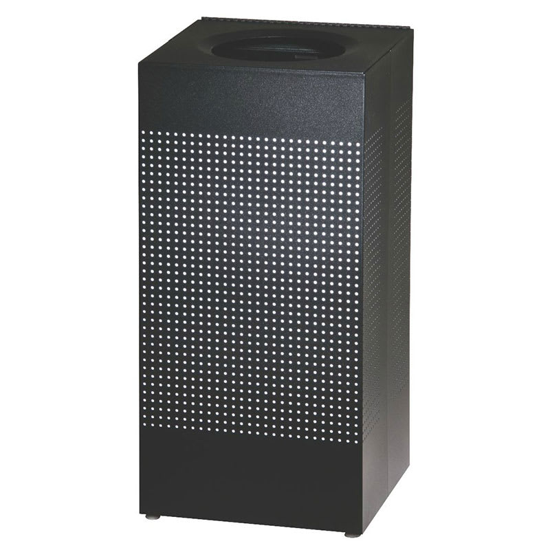 Rubbermaid FGSC14ERBTBK 24-gal Indoor Decorative Trash Can - Metal, Black