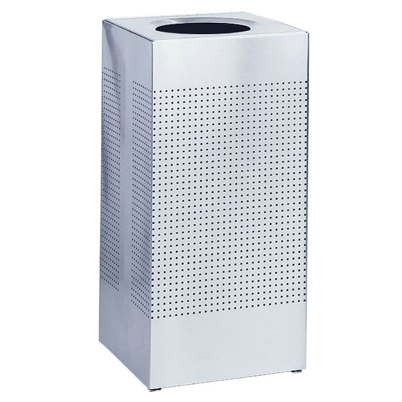Rubbermaid FGSC14SSRB 24-gal Indoor Decorative Trash Can - Metal, Stainless Steel