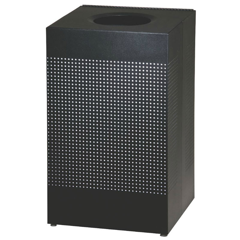 Rubbermaid FGSC18EPLTBK 20-gal Indoor Decorative Trash Can - Metal, Black