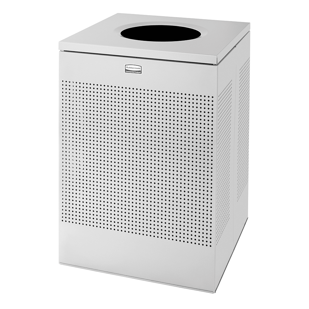 Rubbermaid FGSC22EPLSM 40-gal Indoor Decorative Trash Can - Metal, Silver