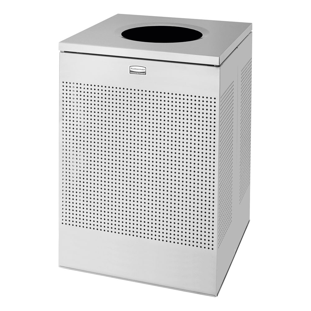 Rubbermaid FGSC22SSPL 40-gal Indoor Decorative Trash Can - Metal, Stainless Steel