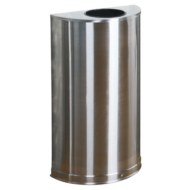 decorative indoor trash cans. Rubbermaid FGSO12SSSPL 12 gal Indoor Decorative Trash Can  Metal Stainless Steel