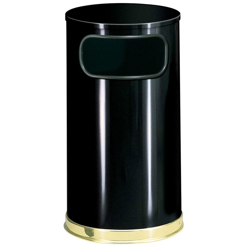 Rubbermaid FGSO1610GLBK 12-gal Indoor Decorative Trash Can - Metal, Black
