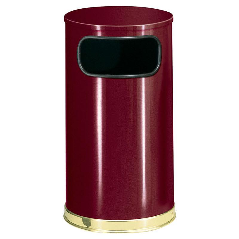 Rubbermaid FGSO1610GLCR 12-gal Indoor Decorative Trash Can - Metal, Crimson