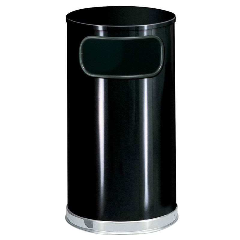 Rubbermaid FGSO1620GLBK 12-gal Indoor Decorative Trash Can - Metal, Black
