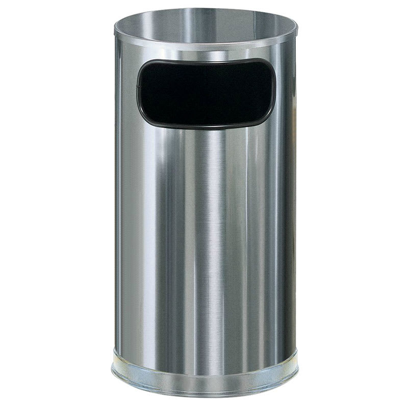 Rubbermaid FGSO16SSSGL 12-gal Indoor Decorative Trash Can - Metal, Stainless Steel