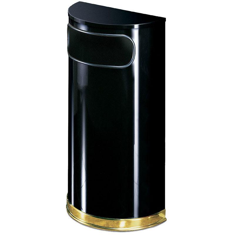 Rubbermaid FGSO810PLBK 9-gal Indoor Decorative Trash Can - Metal, Black