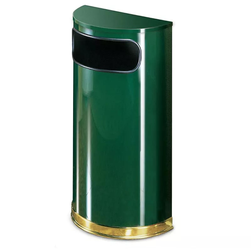 Rubbermaid FGSO810PLEGN 9 gal Indoor Decorative Trash Can - Metal, Empire Green