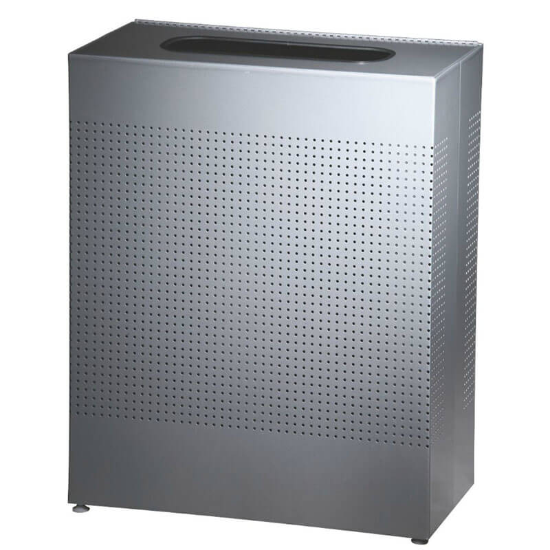 Rubbermaid FGSR18ERBSM 40-gal Indoor Decorative Trash Can - Metal, Silver