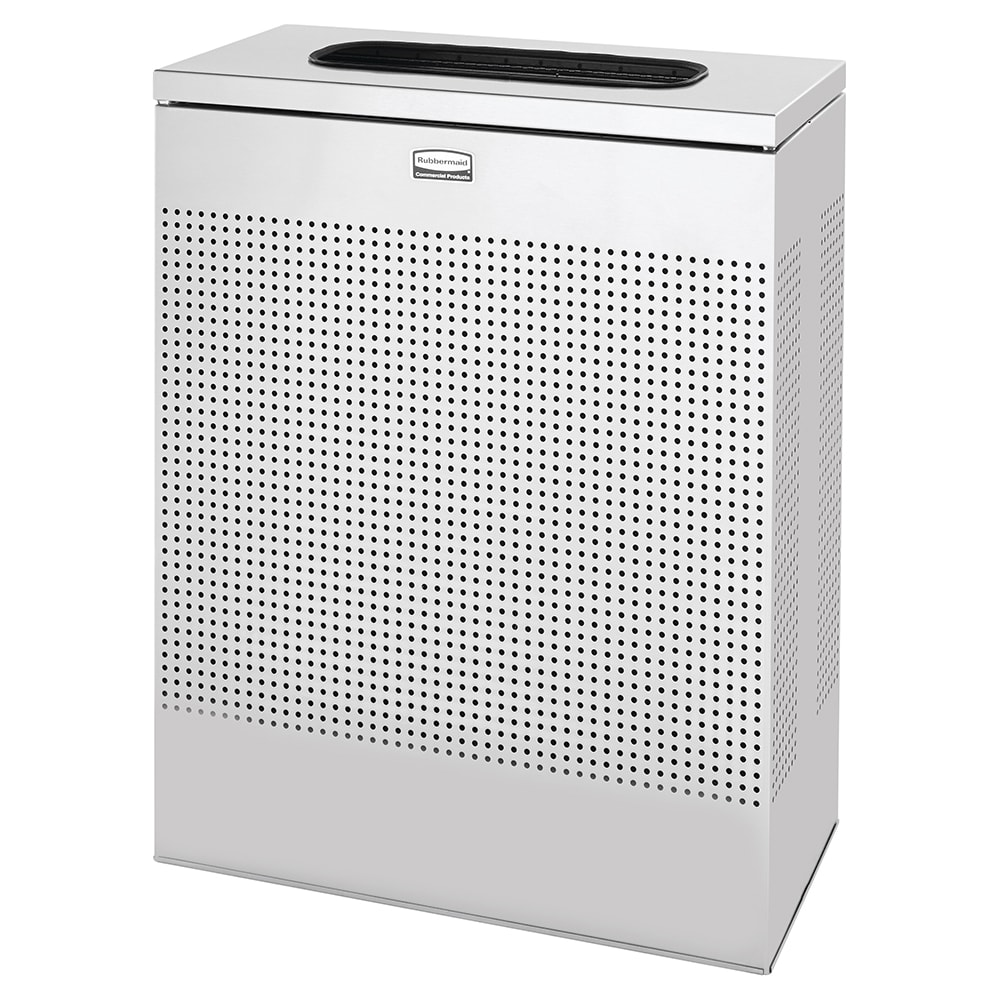 Rubbermaid FGSR18SSPL 40-gal Indoor Decorative Trash Can - Metal, Stainless Steel