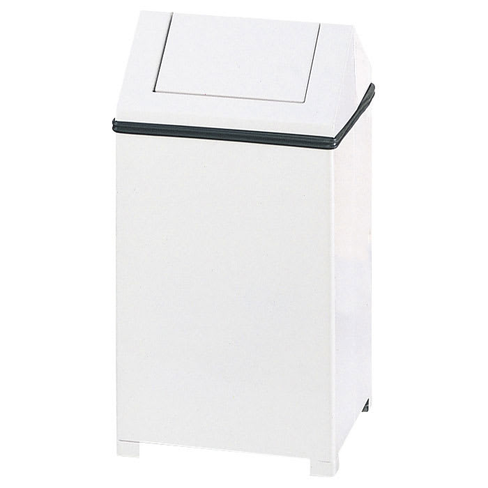 Rubbermaid FGT1414ERBWH 14 gal Indoor Decorative Trash Can - Metal, White