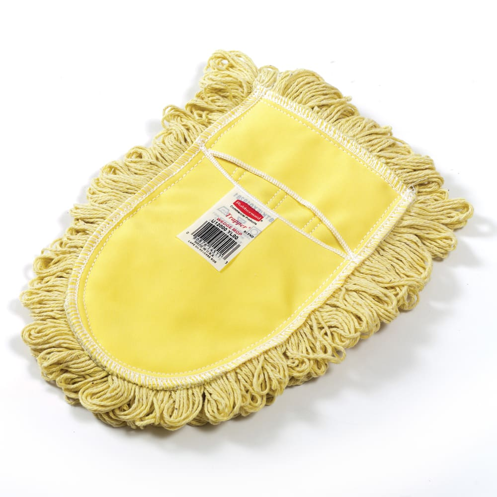 "Rubbermaid FGU12000YL00 6"" Trapper® Wedge Dust Mop Head Only w/ Looped Ends, Yellow"