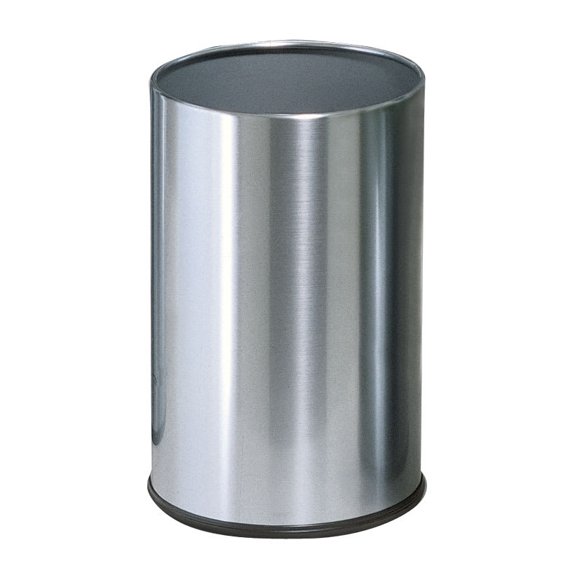 Rubbermaid FGUB1900SSS 5-qt Round Waste Basket - Metal, Stainless