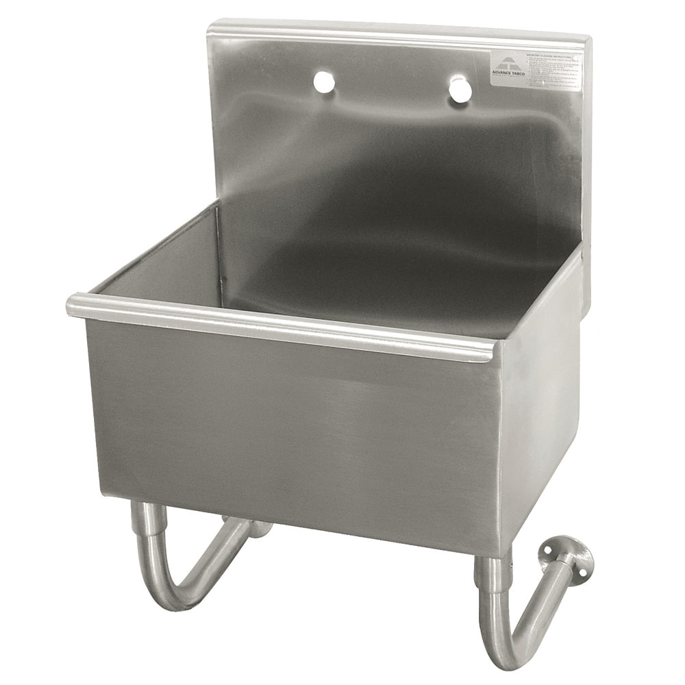 "Advance Tabco 19-18-23 Wall Mount Commercial Hand Sink w/ 23""L x 14""W x 8""D Bowl, Basket Drain"