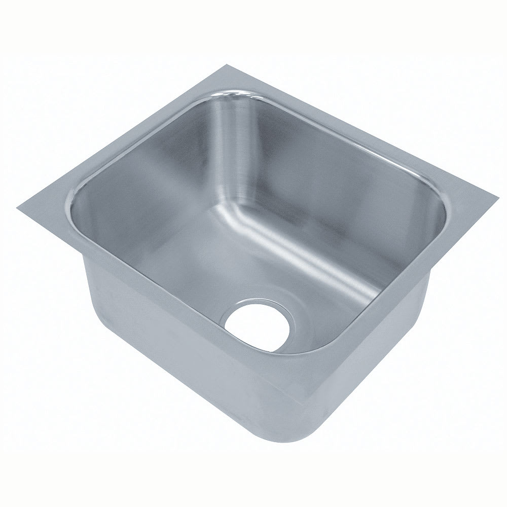"Advance Tabco 2020B-08 (1) Compartment Undermount Sink - 20"" x 20"""