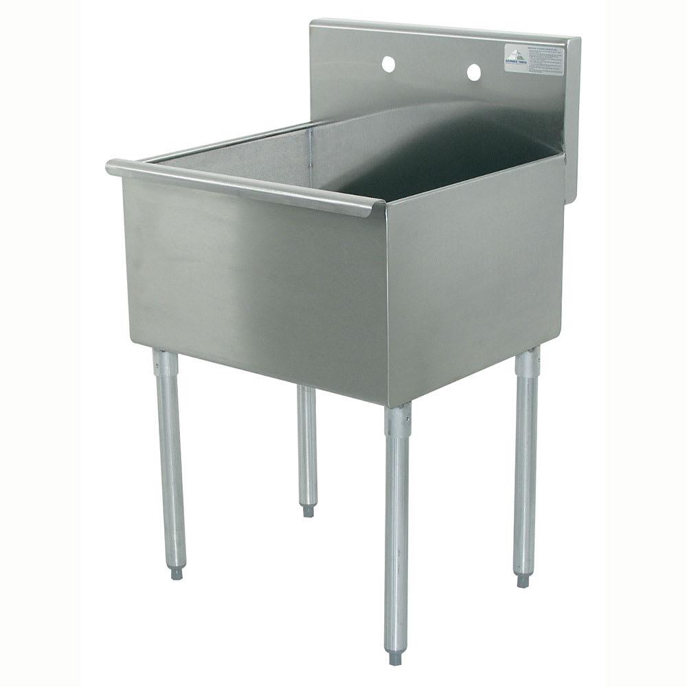 """Advance Tabco 4-41-24 24"""" 1-Compartment Sink w/ 24""""L x 24""""W Bowl, 13"""" Deep"""