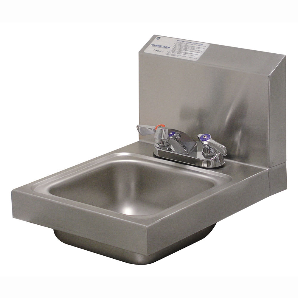 "Advance Tabco 7-PS-22 Wall Mount Commercial Hand Sink w/ 9""L x 9""W x 5""D Bowl, Standard Faucet"