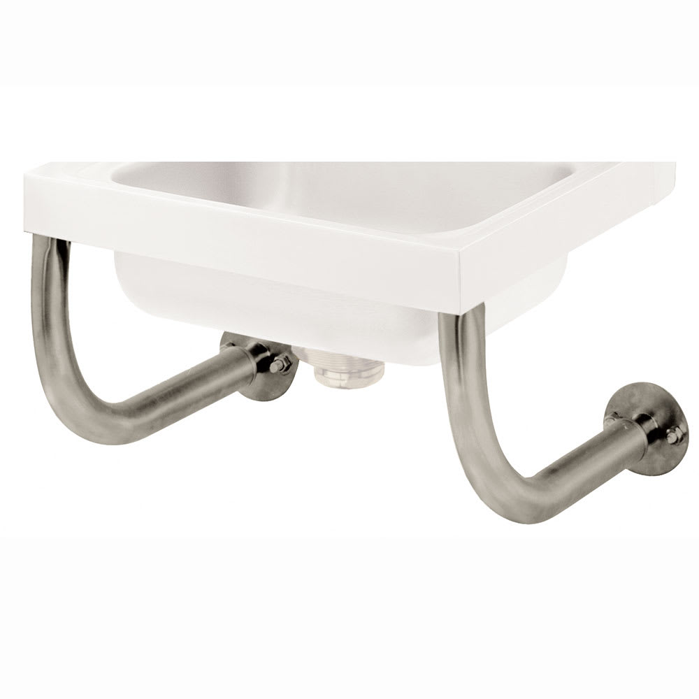 "Advance Tabco 7-PS-24B Tubular Wall Support Brackets for Sinks - 10x14"" Bowl, Deck Mount Faucet"
