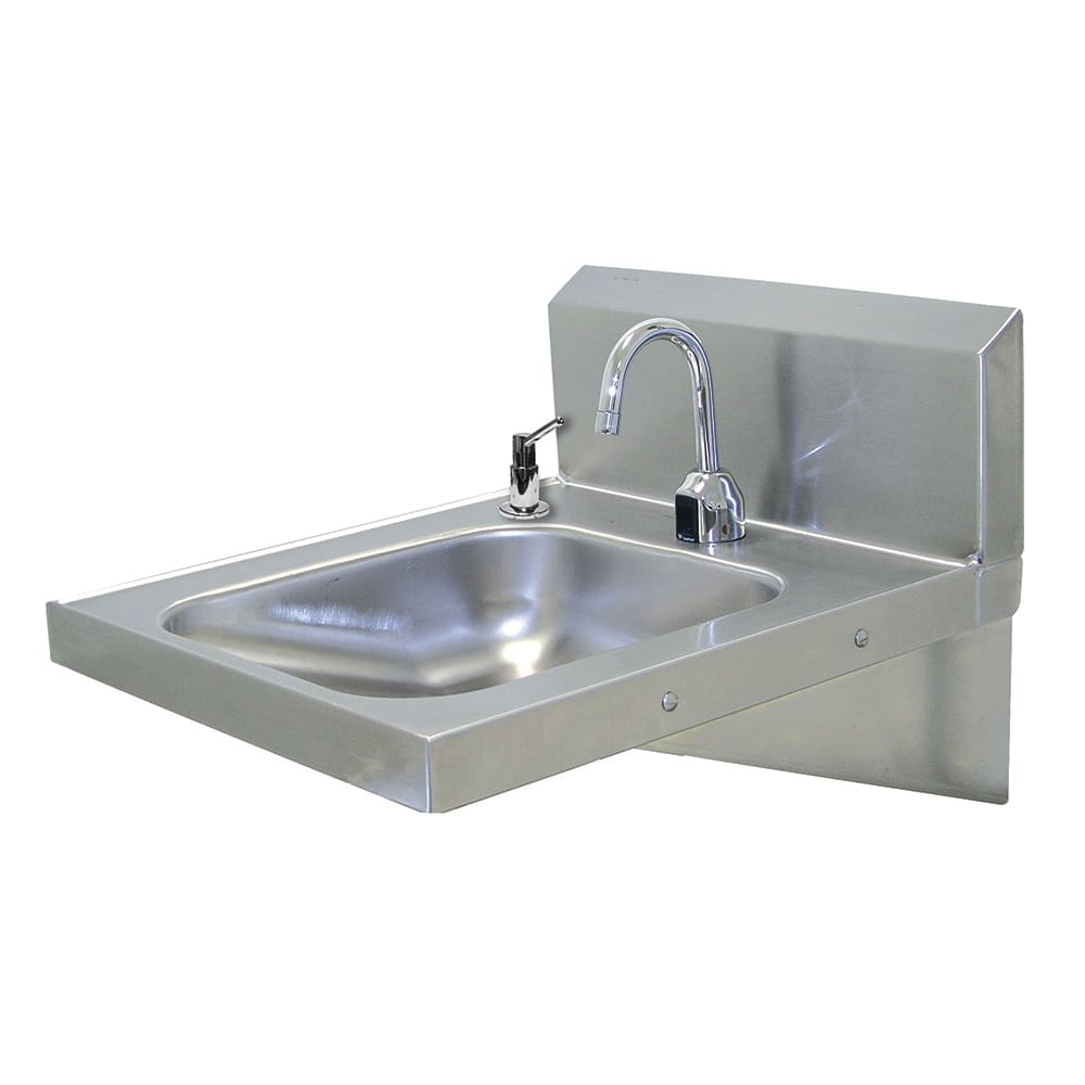 "Advance Tabco 7-PS-26 Wall Mount Commercial Hand Sink w/ 14""L x 16""W x 5""D Bowl, ADA Compliant"