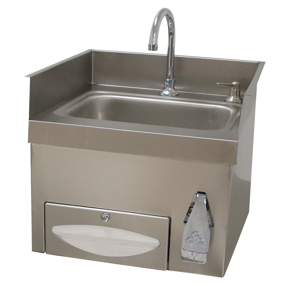 "Advance Tabco 7-PS-43 Wall Mount Commercial Hand Sink w/ 14""L x 10""W x 5""D Bowl, Gooseneck Faucet"