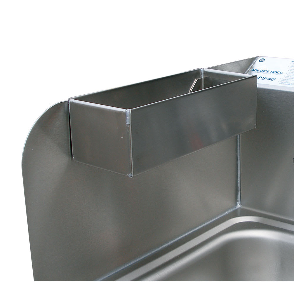 Advance Tabco 7-PS-48 Removable Perforated Utility Tray for Side Splash, Stainless