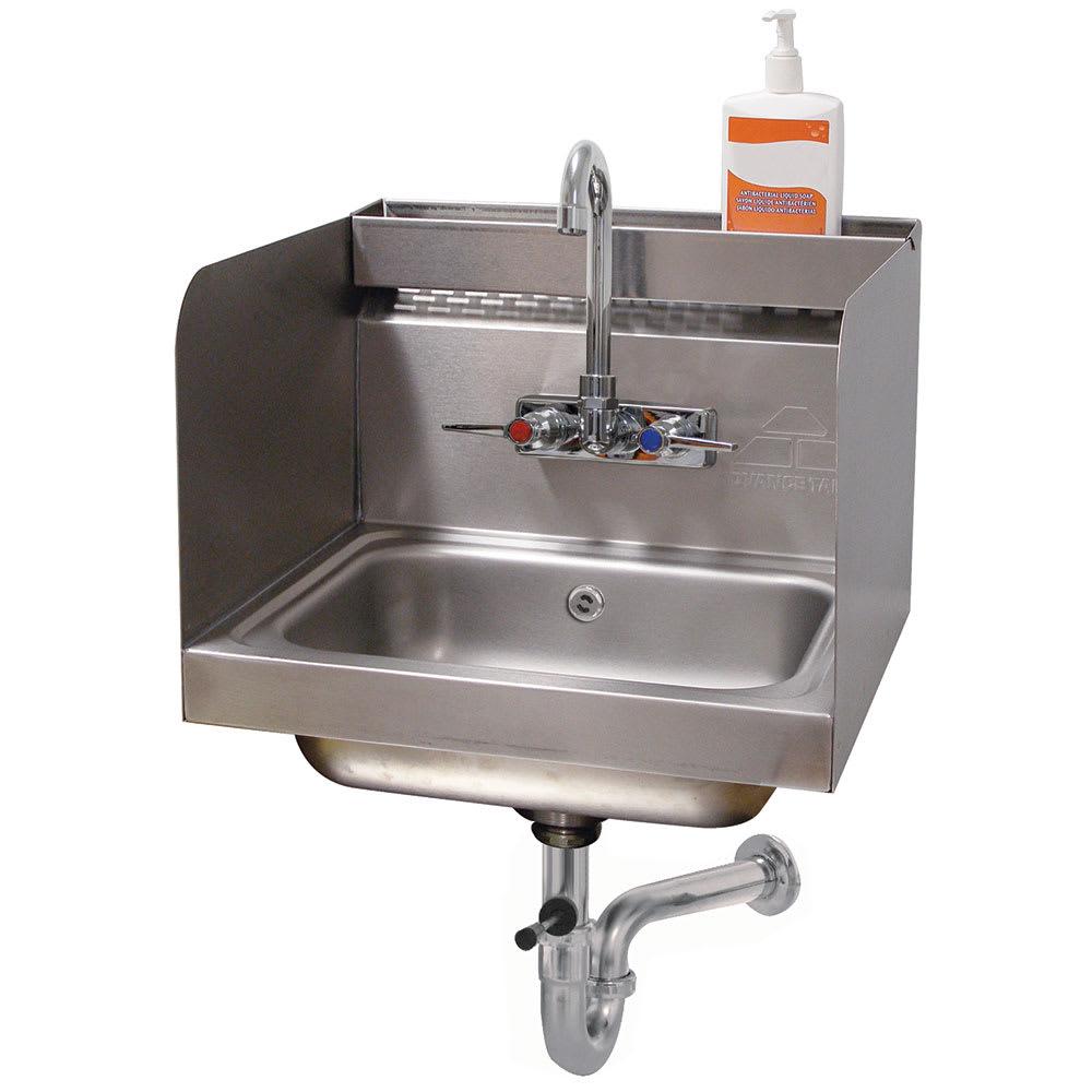 "Advance Tabco 7-PS-76 Wall Mount Commercial Hand Sink w/ 14""L x 10""W x 5""D Bowl, Gooseneck Faucet"