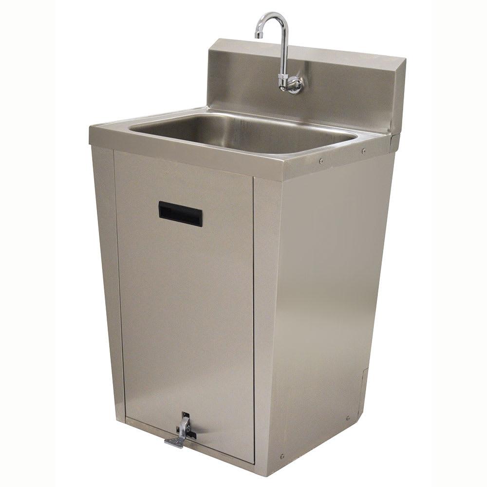 """Advance Tabco 7-PS-86 Pedestal Commercial Hand Sink w/ 20""""L x 16""""W x 8""""D Bowl, Pedal Valve"""