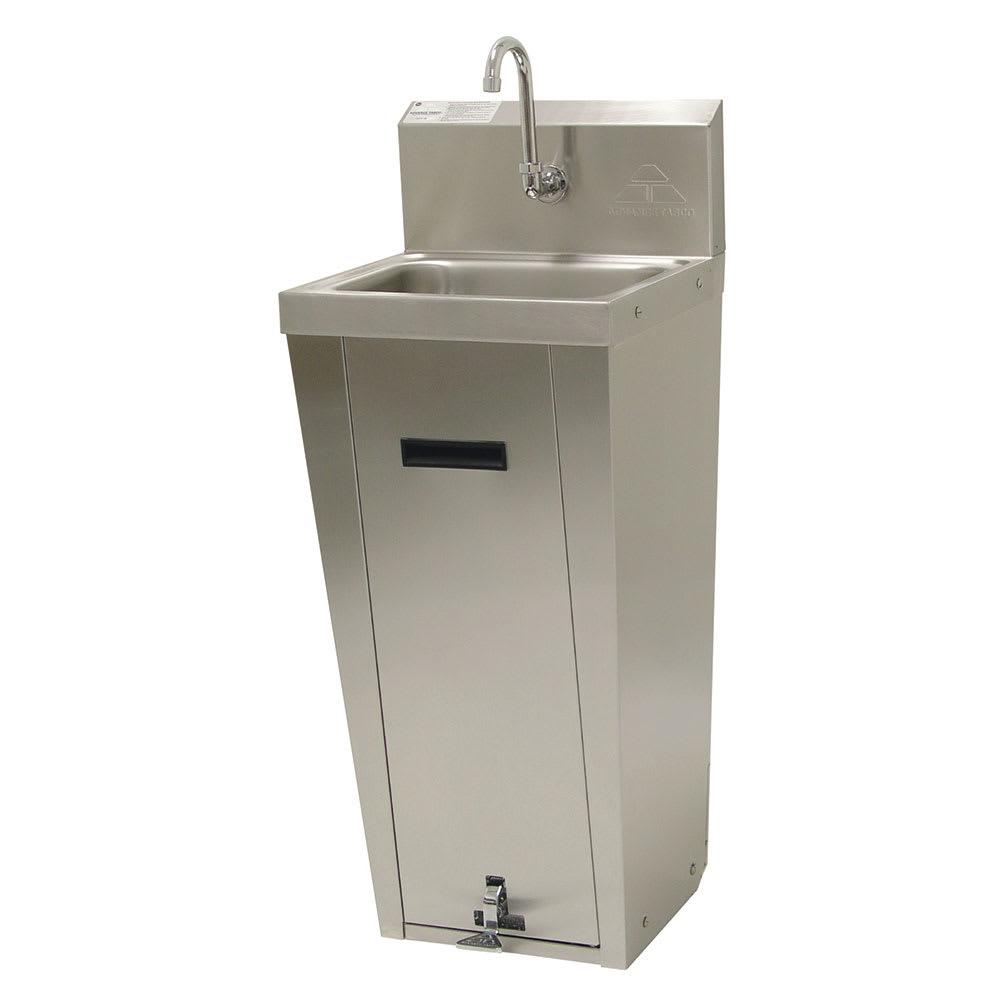 """Advance Tabco 7-PS-90 Pedestal Commercial Hand Sink w/ 14""""L x 10""""W x 5""""D Bowl, Pedal Valve"""