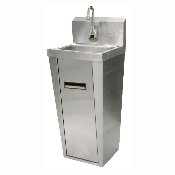 "Advance Tabco 7-PS-91 Pedestal Commercial Hand Sink w/ 14""L x 10""W x 5""D Bowl, Electronic Faucet"