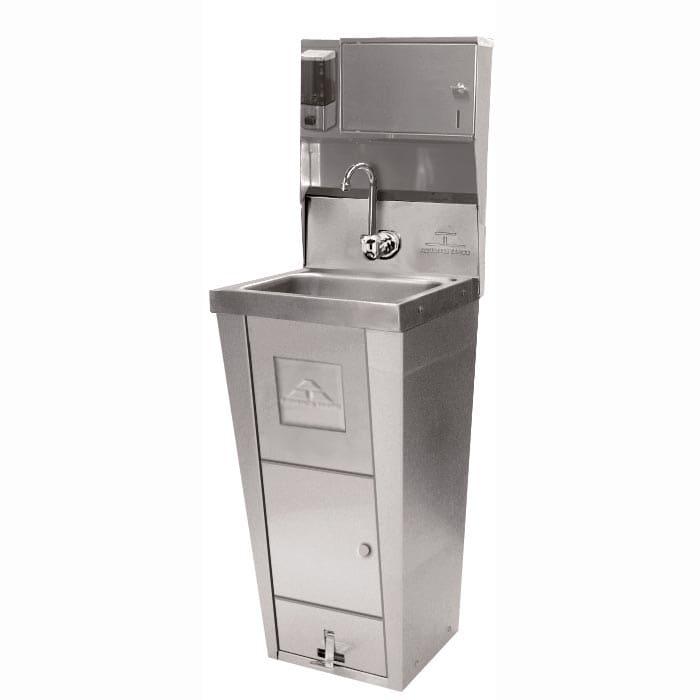 """Advance Tabco 7-PS-99 Pedestal Commercial Hand Sink w/ 14""""L x 10""""W x 5""""D Bowl, Pedal Valve"""