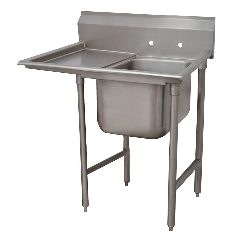 """Advance Tabco 9-1-24-18L 40"""" 1 Compartment Sink w/ 16""""L x 20""""W Bowl, 12"""" Deep"""