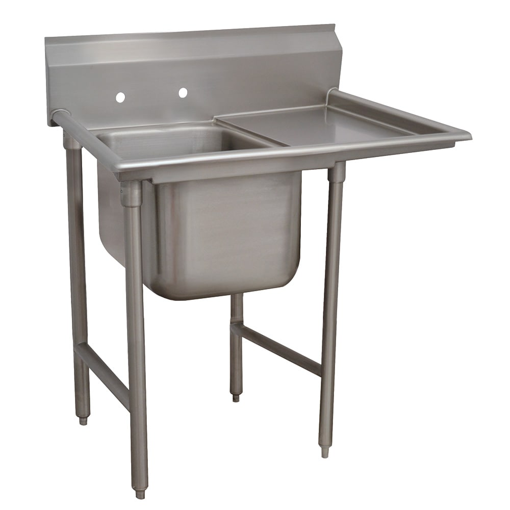 "Advance Tabco 9-1-24-18R 40"" 1 Compartment Sink w/ 16""L x 20""W Bowl, 12"" Deep"