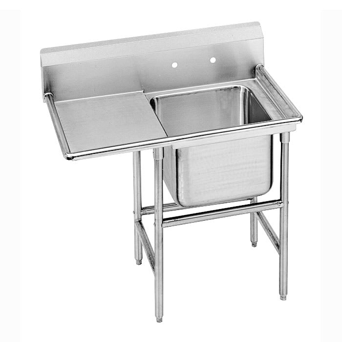 "Advance Tabco 9-1-24-36L 58"" 1-Compartment Sink w/ 16""L x 20""W Bowl, 12"" Deep"