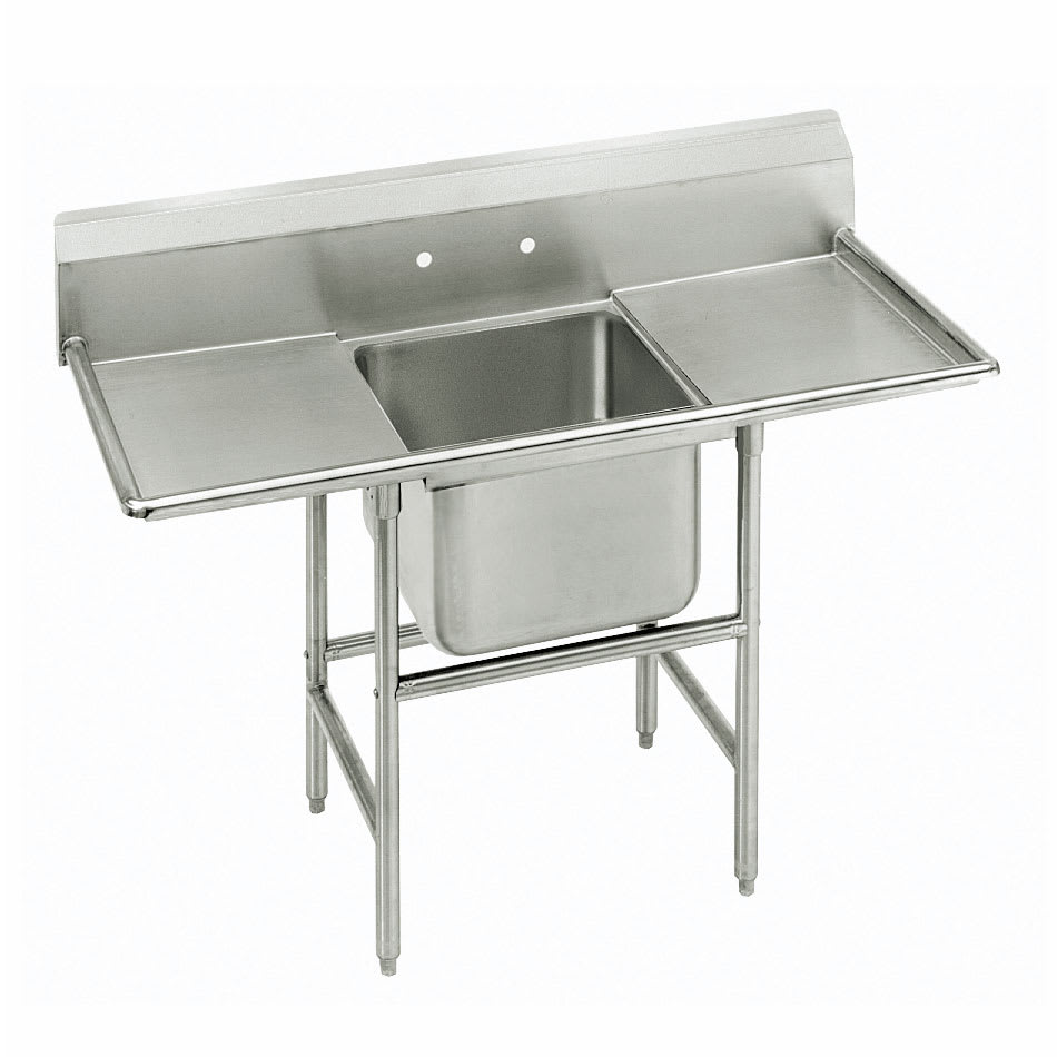 "Advance Tabco 9-1-24-36RL 90"" 1 Compartment Sink w/ 16""L x 20""W Bowl, 12"" Deep"