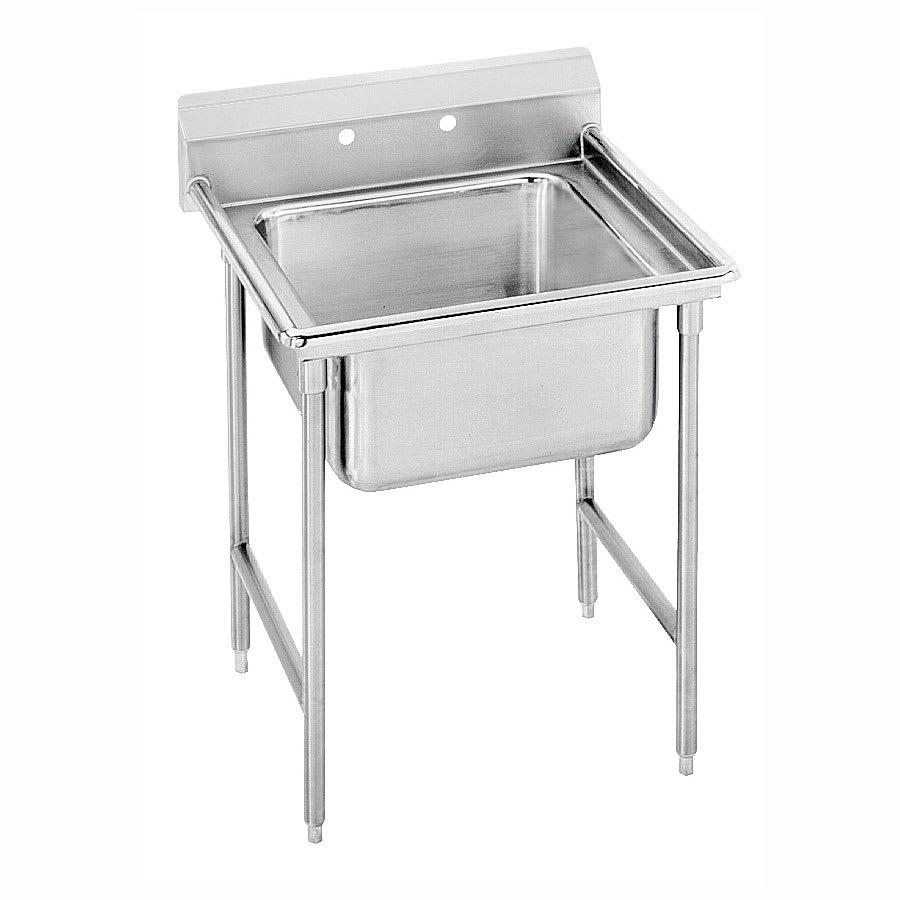 """Advance Tabco 9-21-20 29"""" 1 Compartment Sink w/ 20""""L x 20""""W Bowl, 12"""" Deep"""