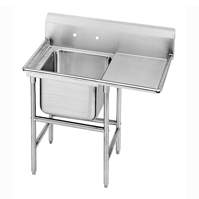"Advance Tabco 9-21-20-18R 44"" 1 Compartment Sink w/ 20""L x 20""W Bowl, 12"" Deep"