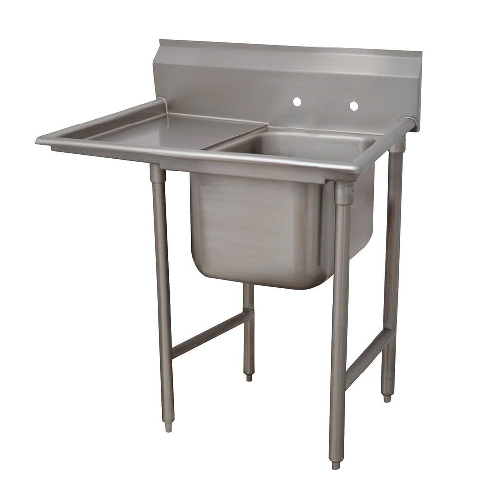 """Advance Tabco 93-1-24-18L 40"""" 1 Compartment Sink w/ 16""""L x 20""""W Bowl, 12"""" Deep"""