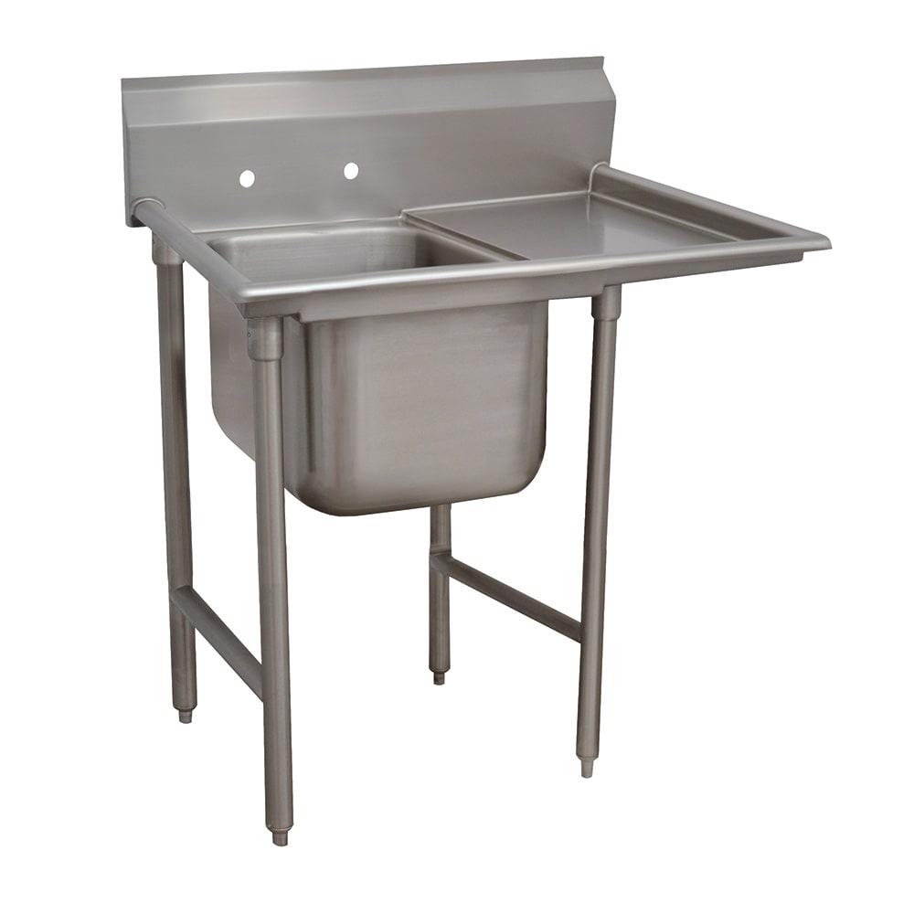 """Advance Tabco 93-1-24-18R 40"""" 1-Compartment Sink w/ 16""""L x 20""""W Bowl, 12"""" Deep"""