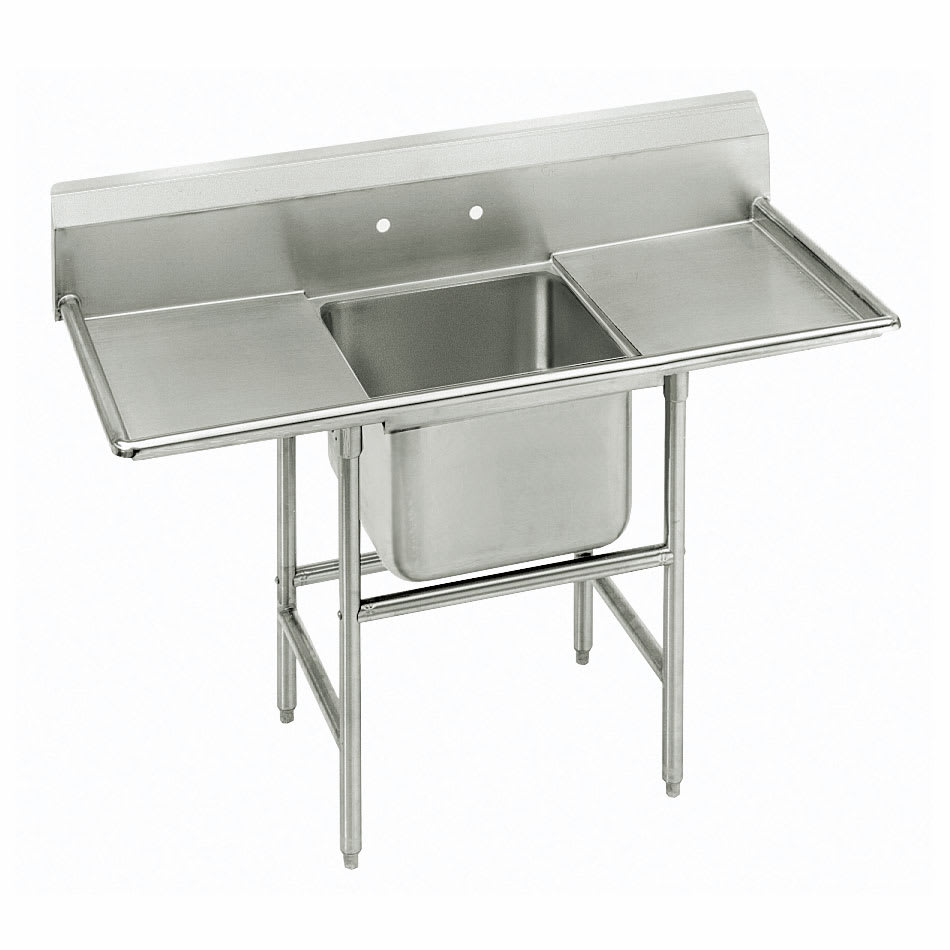 "Advance Tabco 93-61-18-18RL 56"" 1 Compartment Sink w/ 18""L x 24""W Bowl, 12"" Deep"