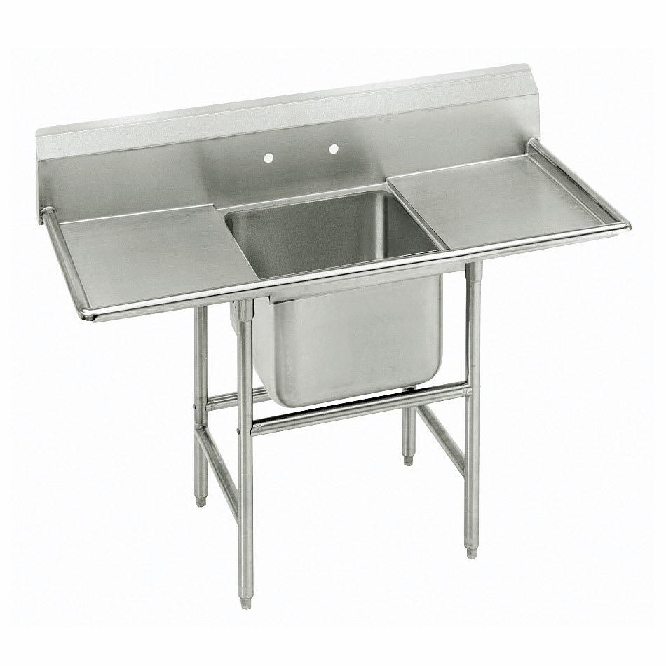 """Advance Tabco 93-61-18-36RL 92"""" 1-Compartment Sink w/ 18""""L x 24""""W Bowl, 12"""" Deep"""